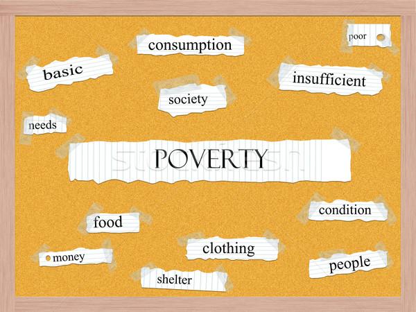 нищеты слово фундаментальный продовольствие бедные Сток-фото © mybaitshop