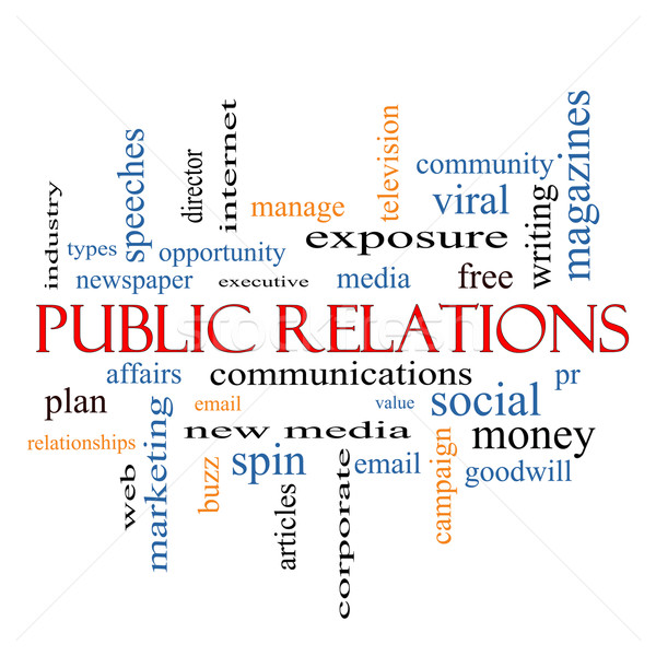 Public Relations Word Cloud Concept Stock photo © mybaitshop