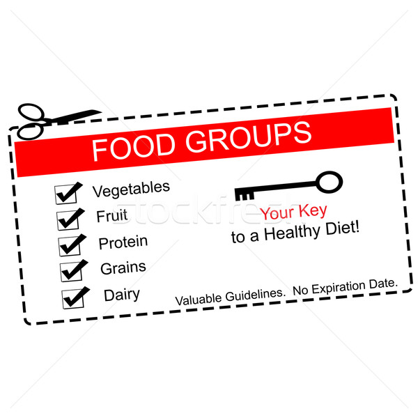 Food Groups Coupon Stock photo © mybaitshop