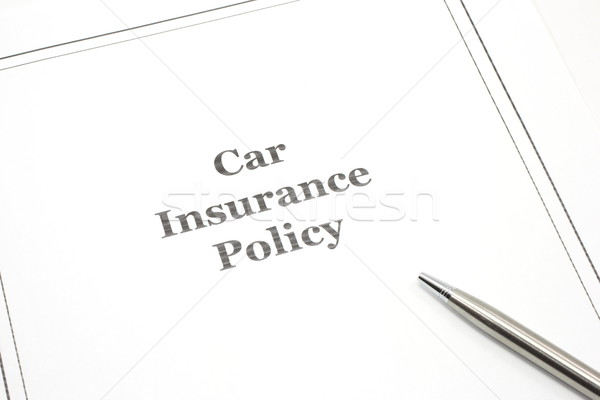 Car Insurance Policy with a Pen ready for Signature Stock photo © mybaitshop