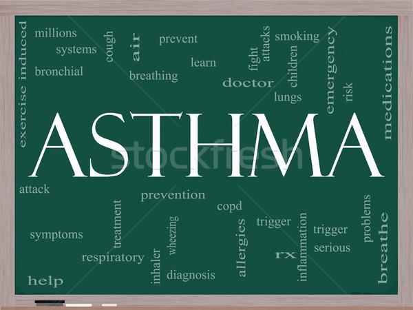 астма слово облако доске rx воздуха Сток-фото © mybaitshop