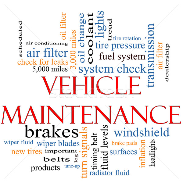 Vehicle Maintenance Word Cloud Concept Stock photo © mybaitshop