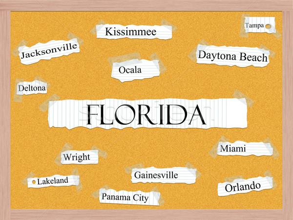 Florida palabra ciudades Miami Orlando Foto stock © mybaitshop