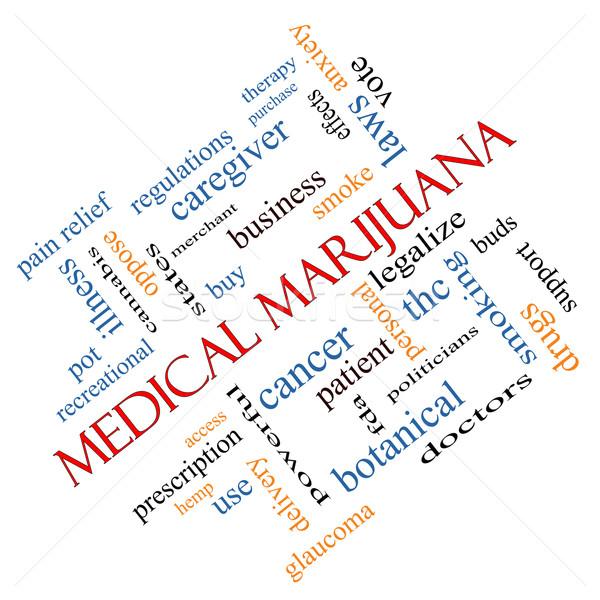 Medical Marijuana Word Cloud Concept Angled Stock photo © mybaitshop