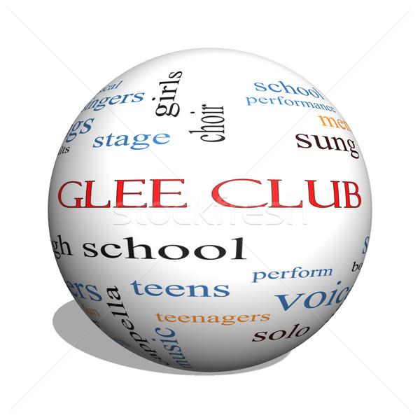 Glee Club 3D sphere Word Cloud Concept Stock photo © mybaitshop