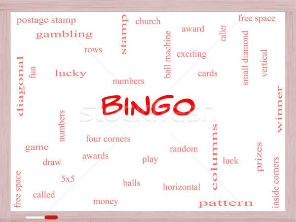 Bingo woordwolk groot nummers Stockfoto © mybaitshop