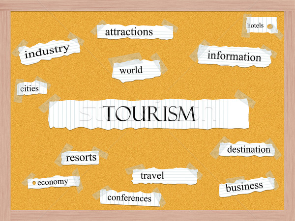 Tourism Corkboard Word Concept Stock photo © mybaitshop