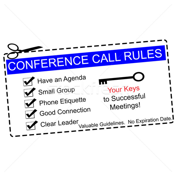Blauw conference call reglement bon groot agenda Stockfoto © mybaitshop