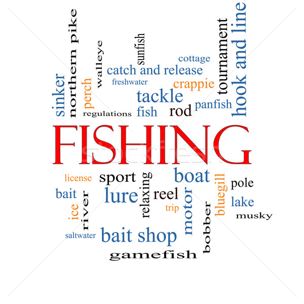 Fishing Word Cloud Concept Stock photo © mybaitshop