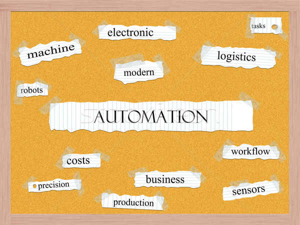Automation Corkboard Word Concept Stock photo © mybaitshop