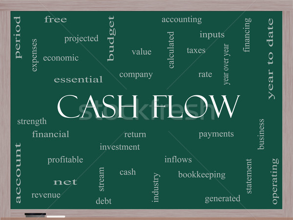 Cash Flow Word Cloud Concept on a Blackboard Stock photo © mybaitshop