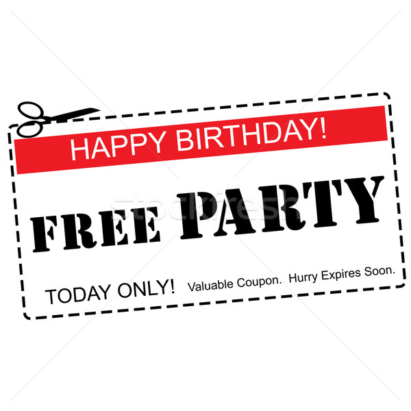 Free Party Happy Birthday Coupon Concept Stock photo © mybaitshop