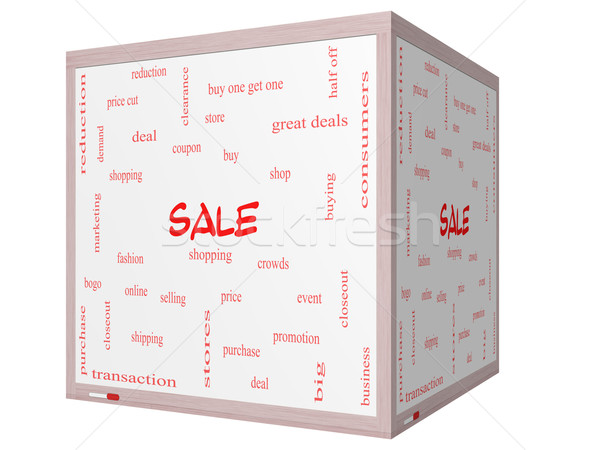 Stock fotó: Vásár · szófelhő · 3D · kocka · tábla · nagyszerű
