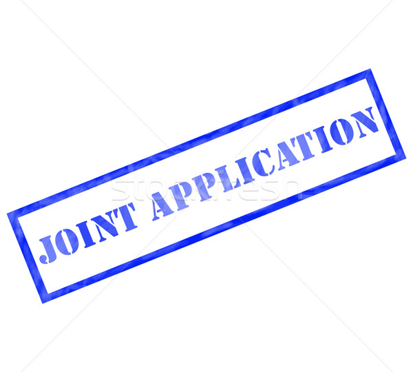 Joint Application Blue Rectangle Stamp Stock photo © mybaitshop