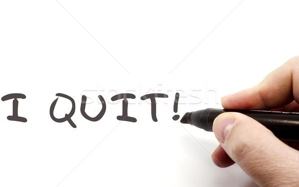 I Quit written with Dry Erase Marker Stock photo © mybaitshop