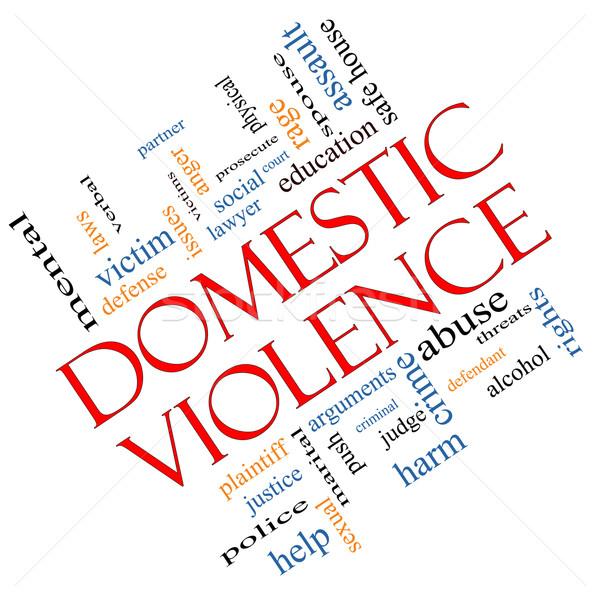 家庭内暴力 言葉の雲 犠牲者 裁判官 ストックフォト © mybaitshop