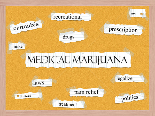 Medical Marijuana Corkboard Word Concept Stock photo © mybaitshop