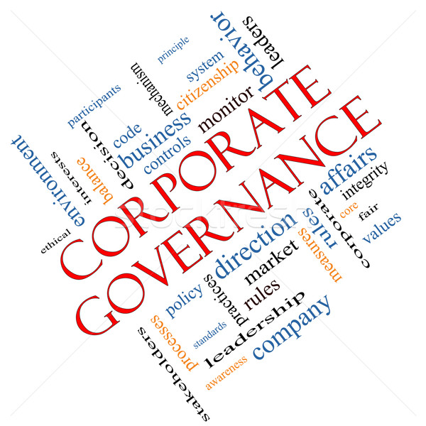 Stock photo: Corporate Governance Word Cloud Concept Angled