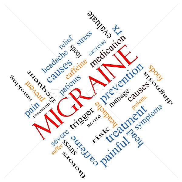 Migraine Word Cloud Concept Angled Stock photo © mybaitshop