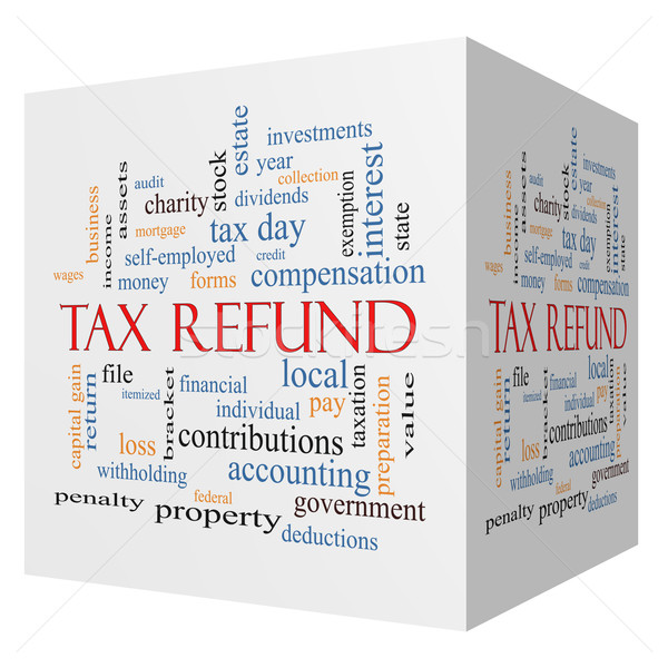 Tax Refund 3D cube Word Cloud Concept Stock photo © mybaitshop