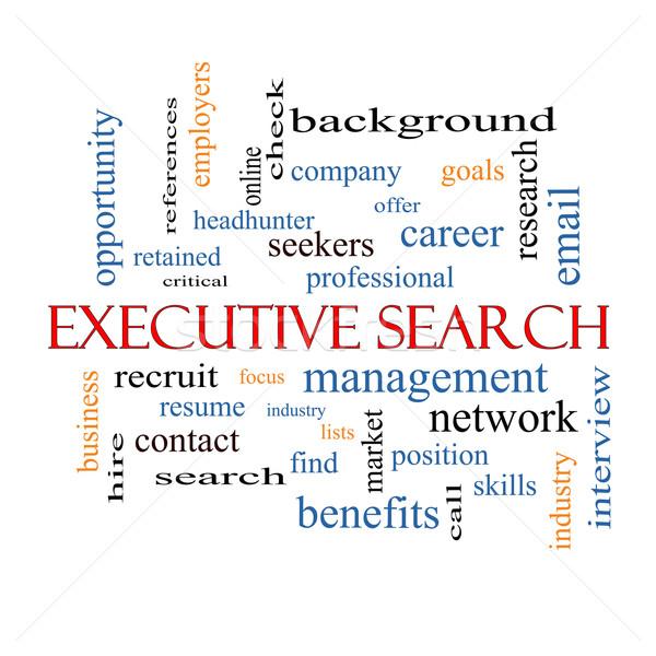 Executive Search Word Cloud Concept Stock photo © mybaitshop