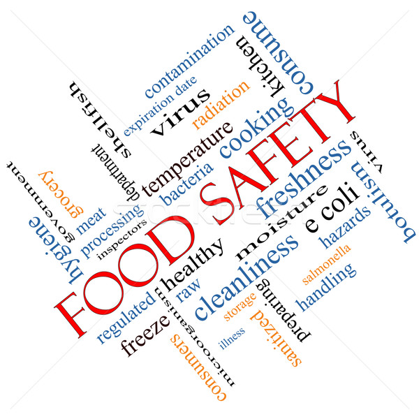 Food Safety Word Cloud Concept Angled Stock photo © mybaitshop