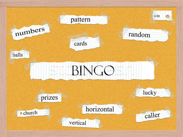 Bingo woord groot patroon kaarten Stockfoto © mybaitshop