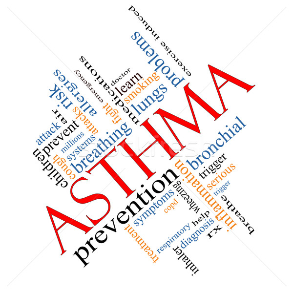 Asthma Word Cloud Concept Angled Stock photo © mybaitshop