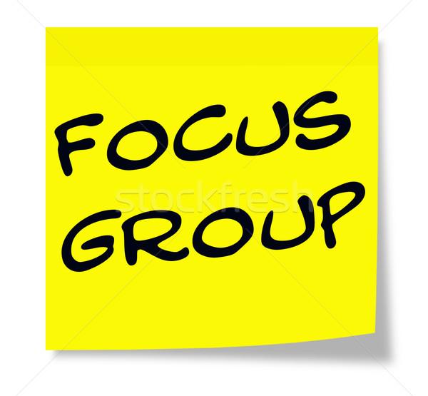 Groupe de discussion note écrit papier jaune note collante Photo stock © mybaitshop