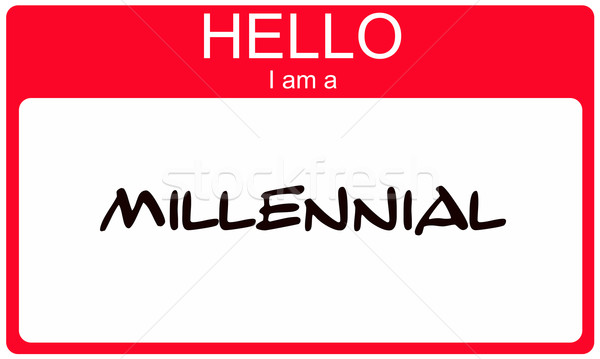 Hello I am a Millennial red name tag concept Stock photo © mybaitshop
