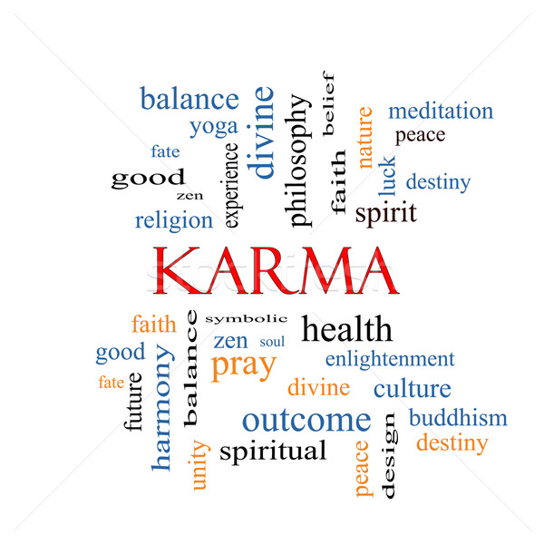 Karma Word Cloud Concept  Stock photo © mybaitshop
