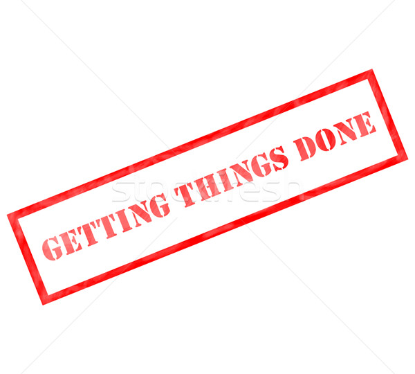 Red rectangle Getting Things Done stamp Stock photo © mybaitshop
