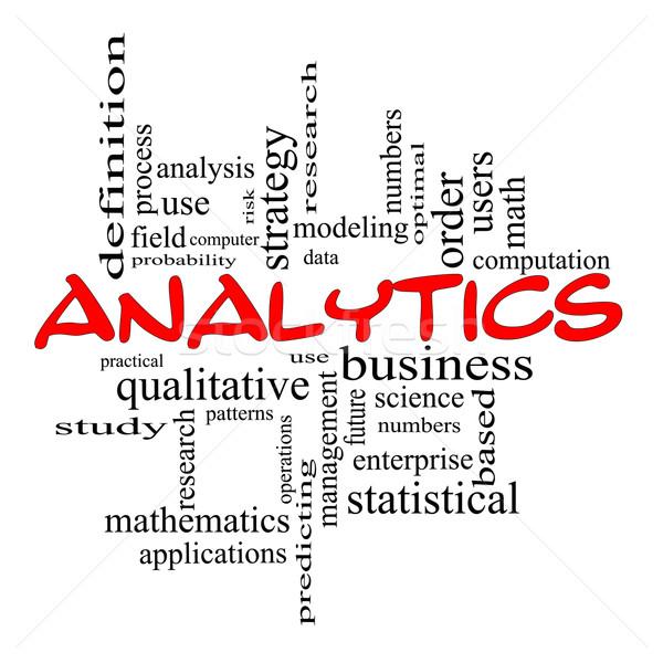 Сток-фото: аналитика · слово · облако · красный · данные · стратегия