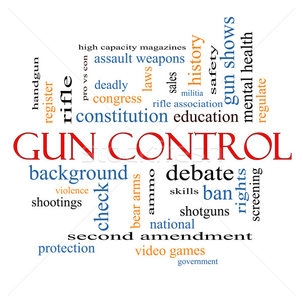 Gun Control Word Cloud Concept Stock photo © mybaitshop