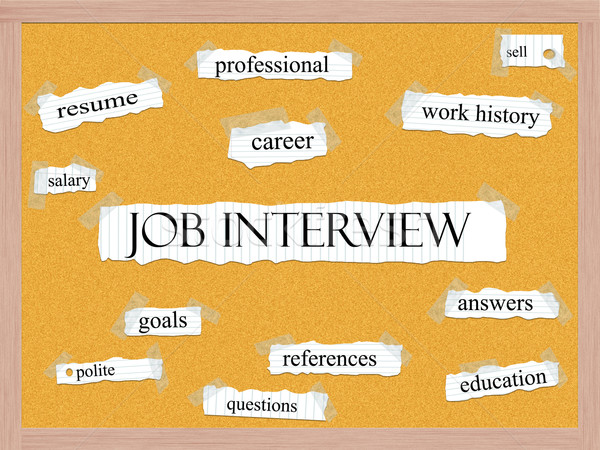 Job Interview Corkboard Word Concept Stock photo © mybaitshop