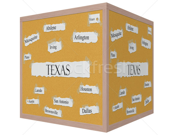 Texas State 3D cube Corkboard Word Concept Stock photo © mybaitshop