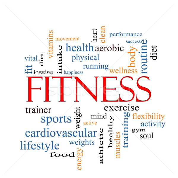 Stock photo: Fitness Word Cloud Concept