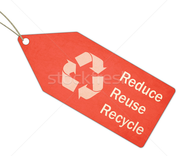Reduce Reuse Recycle Red Tag and String Stock photo © mybaitshop