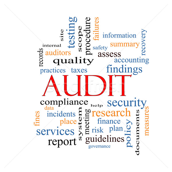 Audit Word Cloud Concept Stock photo © mybaitshop