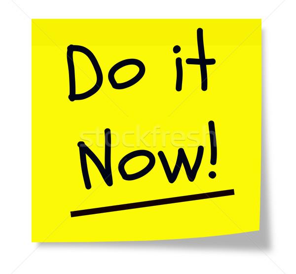 Do It Now Sticky Pad Stock photo © mybaitshop