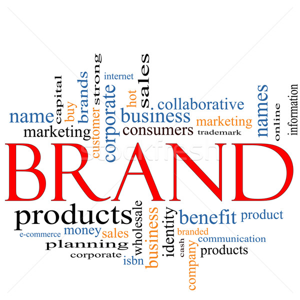 Brand Word Cloud Concept Stock photo © mybaitshop