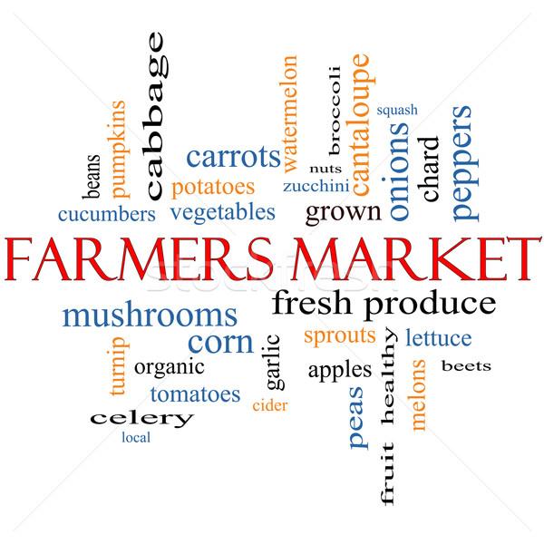 Farmers Market Word Cloud Concept Stock photo © mybaitshop