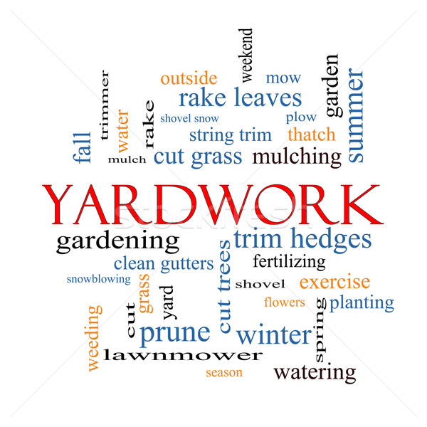 Yardwork Word Cloud Concept Stock photo © mybaitshop