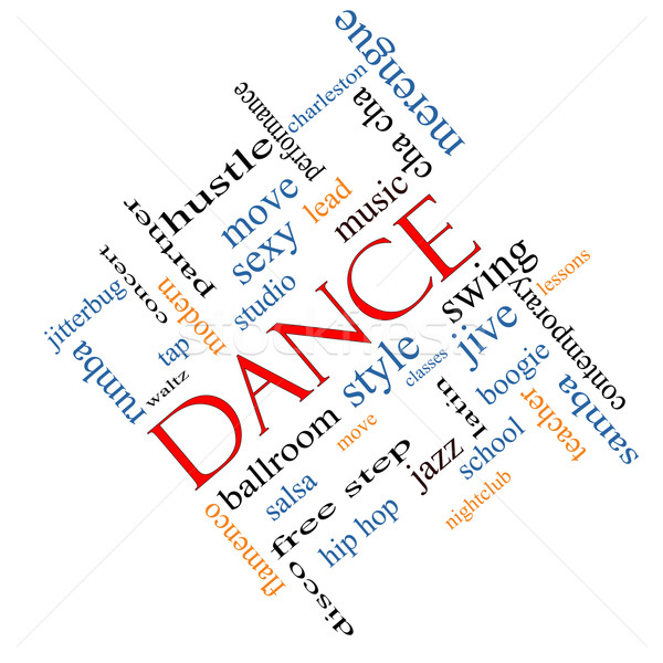 Dance chmura słowo muzyki sala balowa więcej Zdjęcia stock © mybaitshop