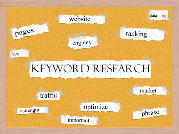 Stock fotó: Kulcsszó · kutatás · szó · nagyszerű · rangsor · adat