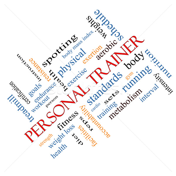 Personal Trainer Word Cloud Concept Angled Stock photo © mybaitshop