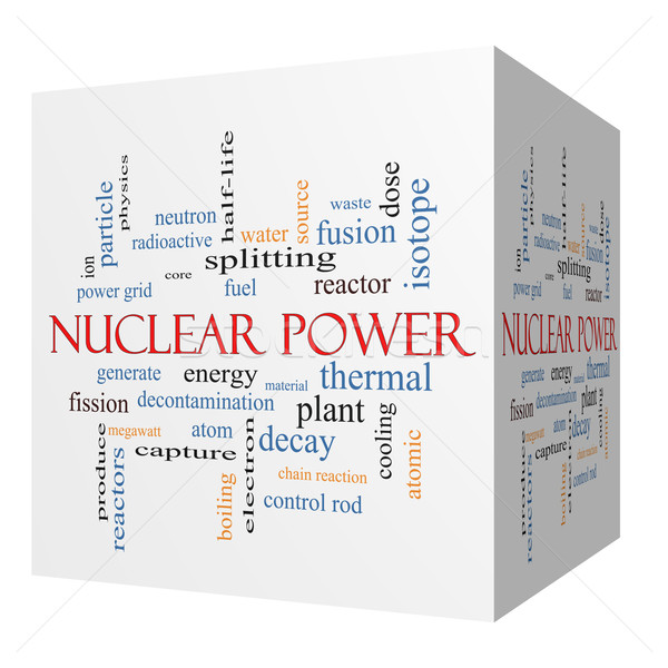Nuclear Power 3D cube Word Cloud Concept Stock photo © mybaitshop