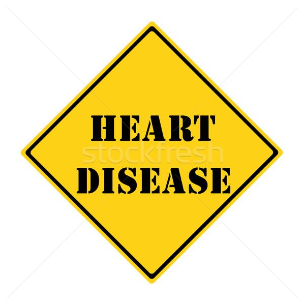 Hartziekte teken Geel zwarte diamant Stockfoto © mybaitshop