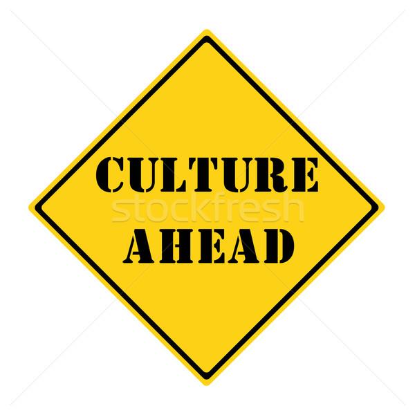 Culture Ahead Sign Stock photo © mybaitshop
