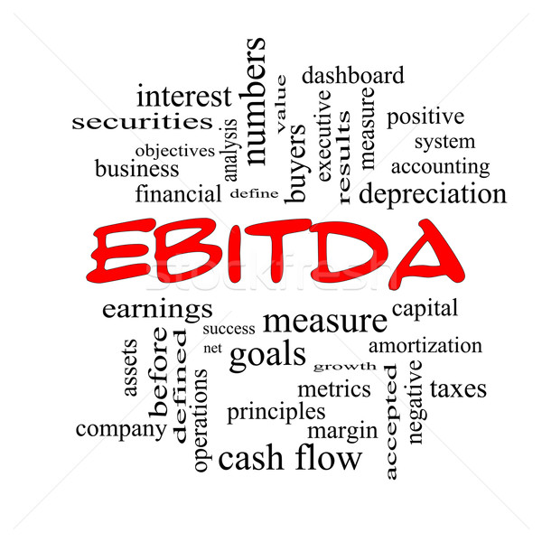 EBITDA Word Cloud Red Caps Concept Stock photo © mybaitshop